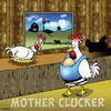 Cartoon: Mother Clucker (small) by toons tagged chickens,mother,clucker,baby,bjorn,prams,fucker,farmyard,animals,swearing,motherhood,pregnant