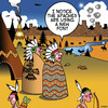 Cartoon: New font (small) by toons tagged fonts,smoke,signals,apaches,american,indian,wild,west,texting