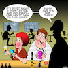 Cartoon: No WiFi (small) by toons tagged retro,night,wifi,party,smart,phones