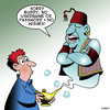 Cartoon: No wishes (small) by toons tagged genie,username,password,wishes