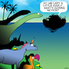 Cartoon: Noahs ark (small) by toons tagged unicorns,do,bird,dinosaurs,noah,ark,animals,endangered,species,extinct,bible,stories