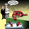 Cartoon: Options (small) by toons tagged lobsters,suicide,chefs,cooking,lobster,pots,restaurants