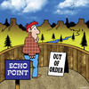 Cartoon: out of order (small) by toons tagged echos,echo,point,out,of,order