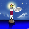 Cartoon: Pizza delivery (small) by toons tagged lighthouse,pizza,free,delivery