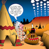 Cartoon: Pop up ads (small) by toons tagged smoke,signals,pop,up,ads,american,indians,messaging,advertising,history