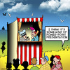 Cartoon: PowerPoint presentation (small) by toons tagged powerpoint,punch,and,judy,puppets