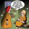Cartoon: Problem solver (small) by toons tagged women,in,prison,life,sentence,death,inmates,doctors,diagnosis