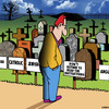 Cartoon: Read the instructions (small) by toons tagged cemetery,headstones,failed,to,read,the,instructions,death,afterlife