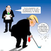 Cartoon: Second opinion (small) by toons tagged trump,global,warming,climate,change,golf,second,opinions,science