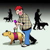 Cartoon: Seeing eye dogs (small) by toons tagged texting,guide,dog,seeing,eye,animals