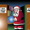 Cartoon: self belief (small) by toons tagged santa,library,christmas,self,belief