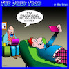 Cartoon: Selfie (small) by toons tagged selfies,diagnosis,psychiatrist,couch,narcissam