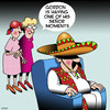 Cartoon: Seniors moment (small) by toons tagged seniors,sombrero,mexico,gringo,senor,old,age,pensioner,moment