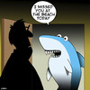 Cartoon: Shark attack (small) by toons tagged sharks,beach,fish,missed,appointment