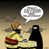 Cartoon: short term relationship (small) by toons tagged taliban,burqa,suicide,bomber,burka