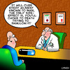 Cartoon: side effects (small) by toons tagged medication,doctors,pills,valium,surgery,chemist,cure,side,effects,cancer,patient,prescription
