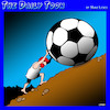 Cartoon: Sisyphus (small) by toons tagged sisyphus,football,boulders,greek,mythology,soccer,sports