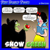 Cartoon: Snow White (small) by toons tagged organic,fruit,greenies,green,movement,snow,white,going,wicked,witch,apples