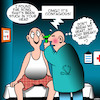 Cartoon: song stuck in my head (small) by toons tagged achy,breaky,heart,song,in,head,jingles,ear,examination