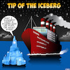 Cartoon: Starboard (small) by toons tagged titanic,hard,port,re,calculate,iceberg,shipping,disaster
