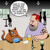 Cartoon: Step outside (small) by toons tagged cats,pussy,bully,thug,fighting,animals,drunks,alcohol