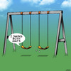 Cartoon: Swings both ways (small) by toons tagged swingers,bisexual,gay,playground,equipment,swing