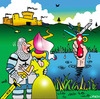 Cartoon: Swiss army knife (small) by toons tagged swiss,army,knife,medievil,knights,damsel,sword,in,the,lake,king,arthur,lancelot,penknife,castles,swords