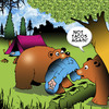 Cartoon: Tacos (small) by toons tagged tacos,bears,burritos,sleeping,bag,campers,animals
