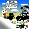 Cartoon: take it with you (small) by toons tagged heaven,material,items,god,religion,can,take,it,with,you,cars,household,golf,death,afterlife,st,peter,angels