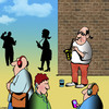 Cartoon: The forgotten art (small) by toons tagged saxophone,buskers
