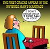Cartoon: the invisible mans wife (small) by toons tagged the,invisible,man,marriage,wives,relationships,divorce,seperation,love,angst,lost