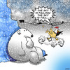 Cartoon: The sky is falling (small) by toons tagged chicken,little,fairy,tales,polar,bears,arctic