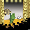 Cartoon: The Stripper (small) by toons tagged turtles,stripper,tortoise,pole,dancing,naked,strip,club,animals
