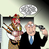 Cartoon: The Wee hours (small) by toons tagged bagpipes,elevators,suicide,break,downs
