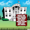Cartoon: The White House (small) by toons tagged trump,fired,sacked,the,white,house,us,politics