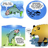 Cartoon: This is the life (small) by toons tagged bears,salmon,sporning,fish,fishing,food,seafood