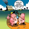 Cartoon: Three of us (small) by toons tagged three,little,pigs,sausages,meat,swine,fairy,tales,vagabond,tramps,farm