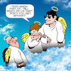 Cartoon: till death do we part (small) by toons tagged heaven afterlife till death do we part handsome stud angels