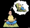 Cartoon: True meditation (small) by toons tagged yoga,meditation,recliner,chair,relaxation,remote,control,exercise,beer