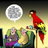 Cartoon: Twitter account (small) by toons tagged parrot,twitter,social,media,animals,birds