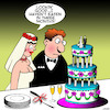 Cartoon: Wedding cake (small) by toons tagged wedding,cake,starving,dieting