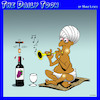 Cartoon: Wine corkscrew (small) by toons tagged snake,charmer,corkscrew,flute,wine,turban