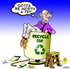 Cartoon: worth a try (small) by toons tagged recycle,recycling,environment,old,age,ecology,pension,soylent,green,planet,earth,day,garbage,renewable,energy,carbon,footprint,fossil,fuel