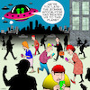 Cartoon: Zombie Apocalypse (small) by toons tagged smart,phones,phone,addiction,zombies,apocalypse,aliens,flying,saucers,staring,at