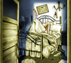 Cartoon: On the Job (small) by toonsucker tagged nacht,winter,sex,schlafzimmer,bed,room,night,love,liebe