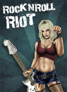 Cartoon: RocknRoll Riot (small) by toonsucker tagged rock,music,girl,guitar,scene,blonde,sexy,loud