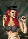 Cartoon: Urban Rebel (small) by toonsucker tagged punk,rock,girl,rebel,scene,revolution,tattoo,sexy,city,life,anti
