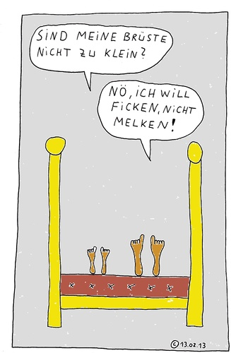 Cartoon: Im Bett 20 (medium) by Müller tagged imbett,bett,bed
