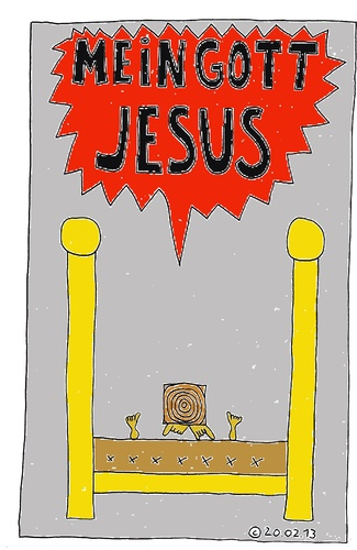 Cartoon: Im Bett 23 (medium) by Müller tagged imbett,inbed,jesus