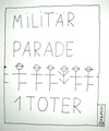 Cartoon: Militär Parade (small) by Müller tagged militär,parade,tot